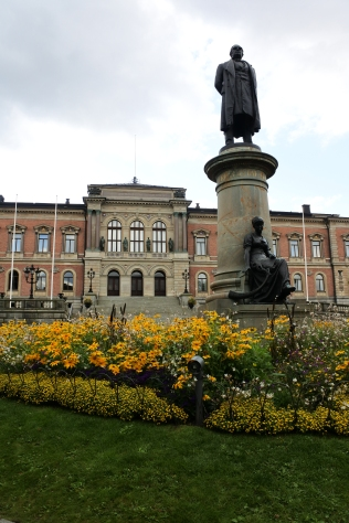 Statue of Erik Gustaf Geijer outside Uppsala University's main building