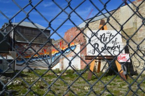 """Smash Palace's neighboring mural. """"The Art of Recovery"""" is also the title of a documentary about the rebuild -- worth a watch!"""