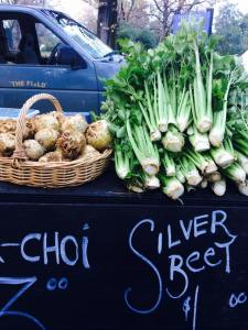 Delicious locally grown vegetables! (photo courtesy of ChCh Farmer's Market)
