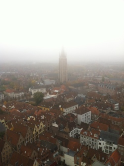 View of Bruges from the top of the Belfry Tower.