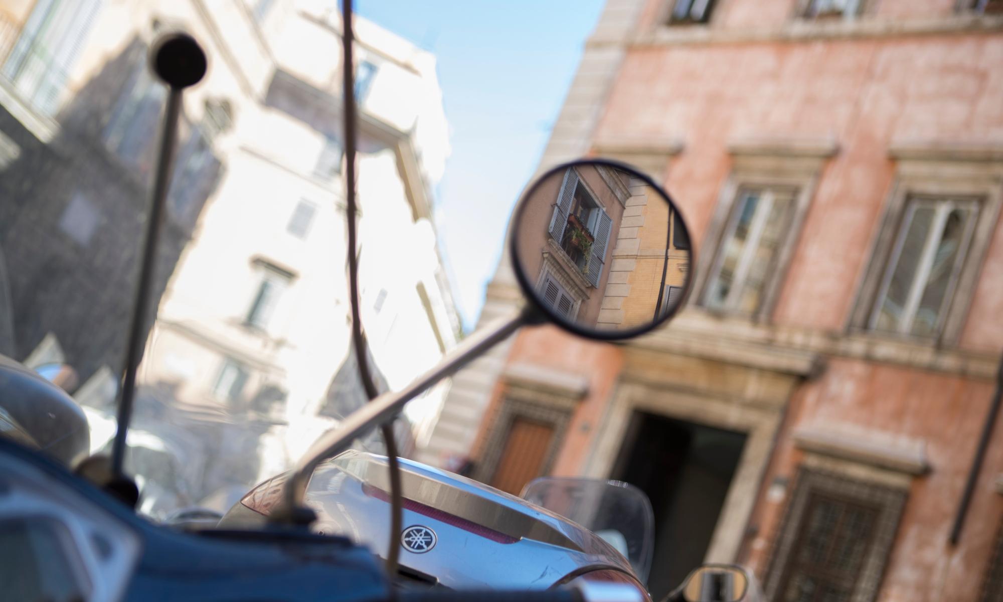 Side mirror in Rome