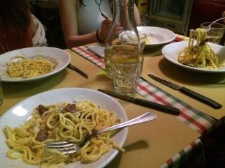 favorite pasta restaurant, Cacio e Pepe da Gianna