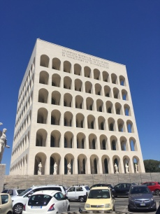 "The ""new Colosseum"" in the EUR district."