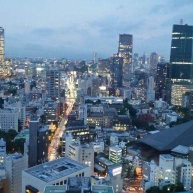 Roppongi Hills as the sunsets