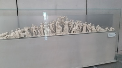An artistic recreation of one of the pediments on the Parthenon from the Acropolis Museum