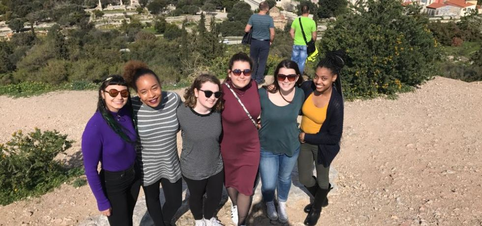 Students at the Acropolis
