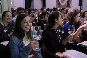 Students at wine tasting
