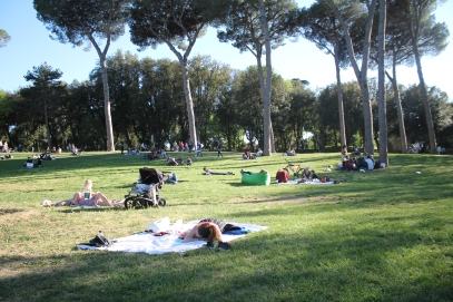 Rome was...picnics in Borghese...