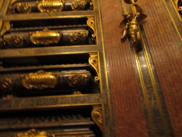 some of caskets inside the Cathedral in Avila, Spain