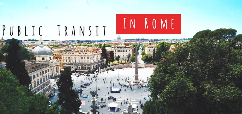 Public transit in Rome image of Piazza del Popolo